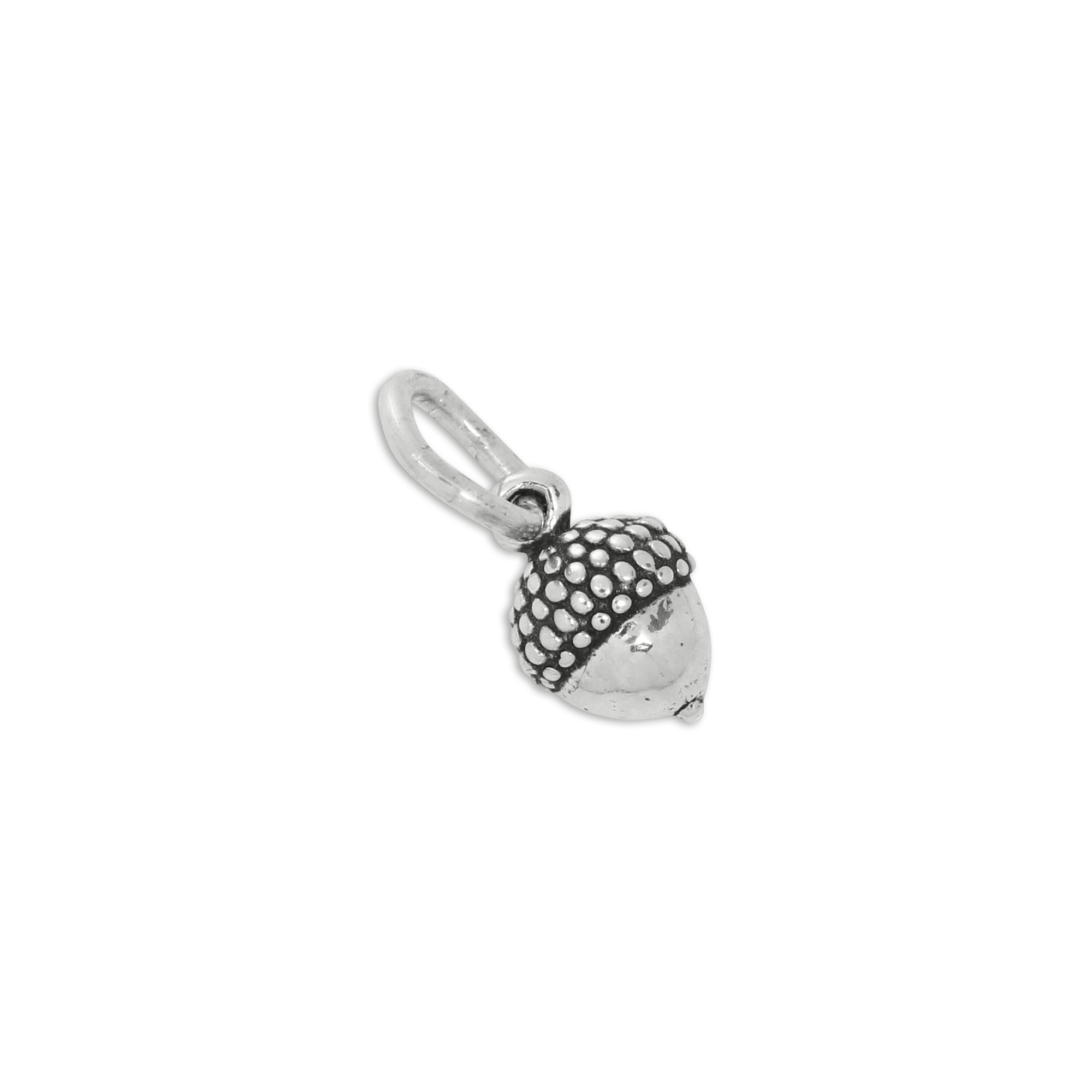 An image of Sterling Silver Half Small Acorn Charm