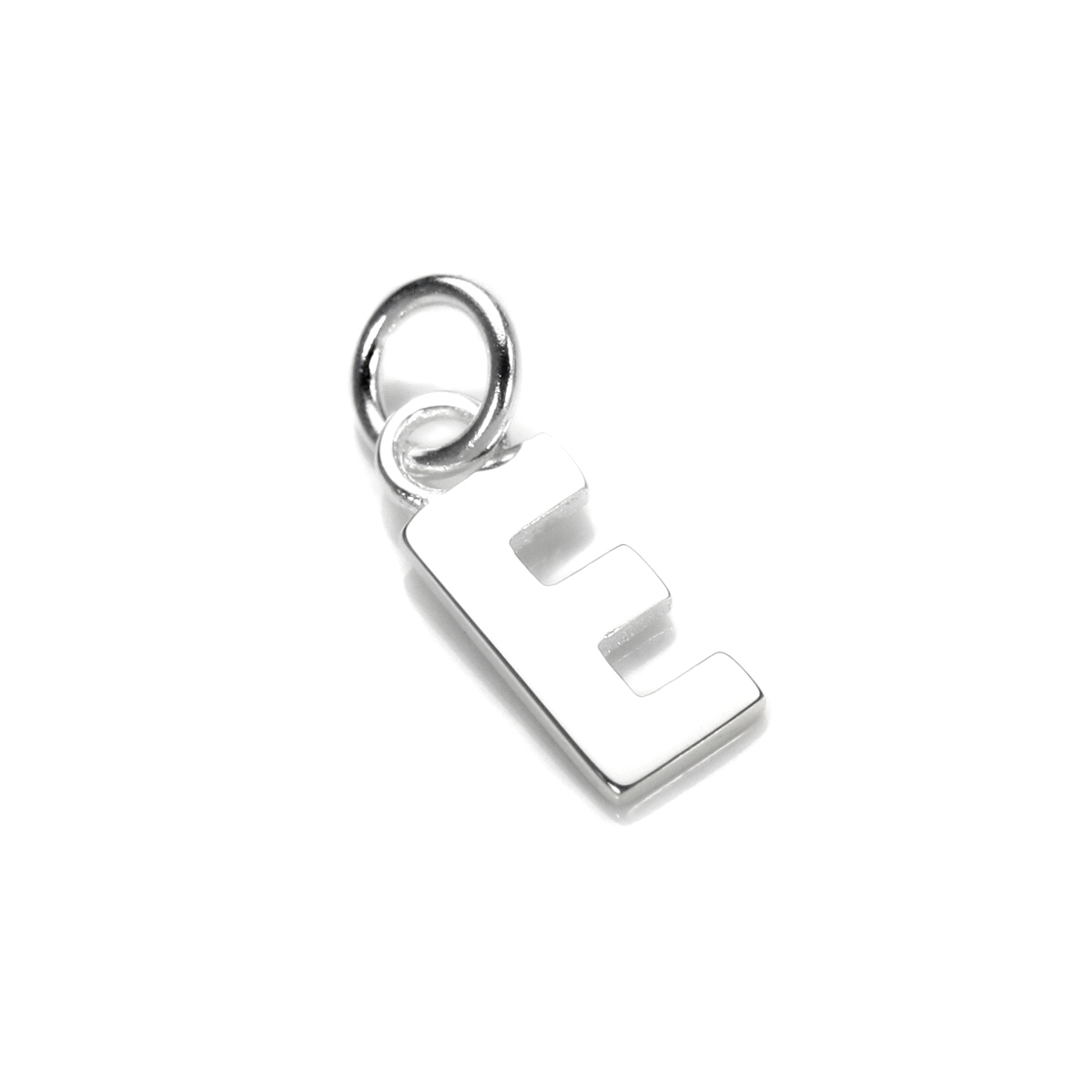 An image of Sterling Silver Letter E Charm