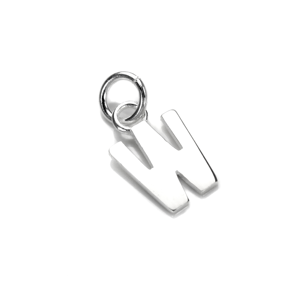 An image of Sterling Silver Letter W Charm