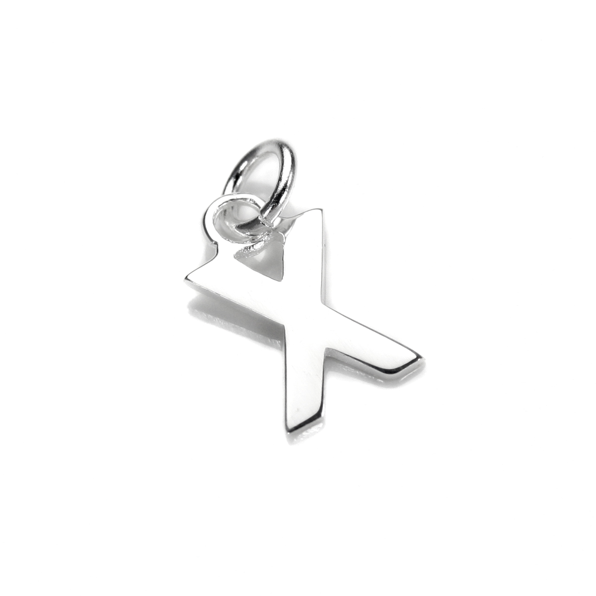 An image of Sterling Silver Letter X Charm