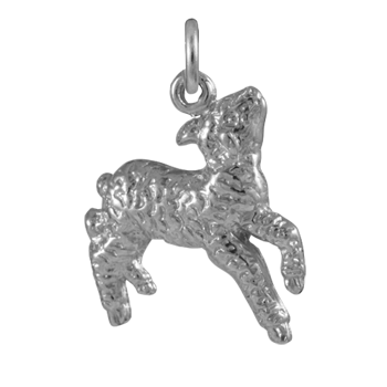 Sterling Silver Lamb Charm