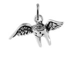 Sterling Silver Winged Baby Tooth Fairy Charm