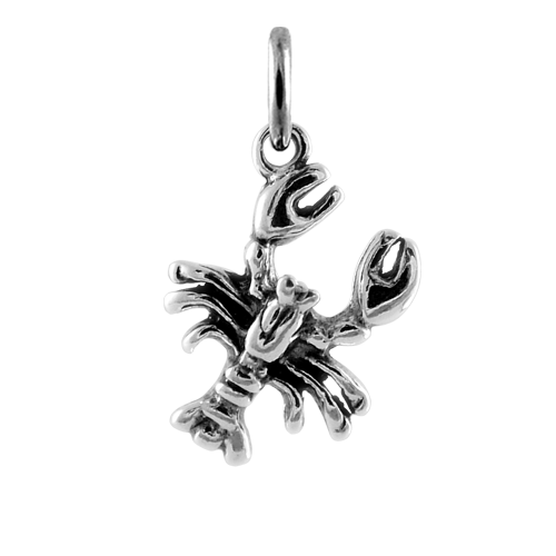 Sterling Silver Crayfish Scorpion Charm