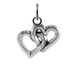 Sterling Silver Interlocked Hearts Charm