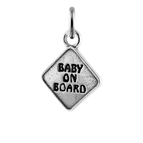 Sterling Silver Baby on Board Charm