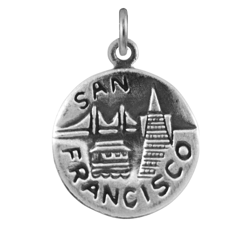Sterling Silver San Francisco Medal Charm