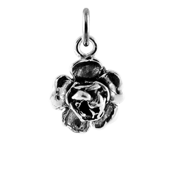 Sterling Silver Rose Head Charm