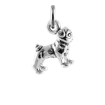 Sterling Silver Small Pug Charm