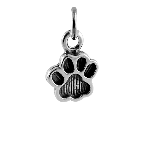 Sterling Silver Paw Print Charm Thecharmworks Com Watercolor paw print clipart, dog paw clip art, png puppy watercolor graphics, rainbow cat paw icon, commercial use, digital download. the charm works