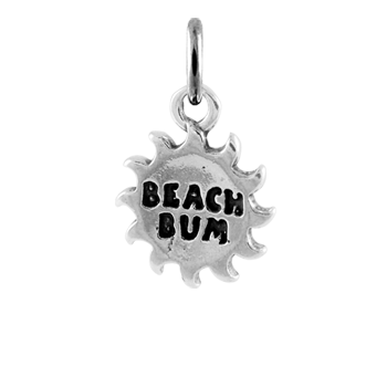 Sterling Silver Beach Bum Charm