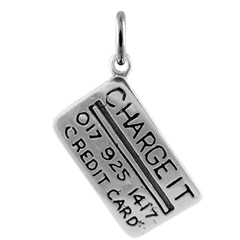 Sterling Silver Credit Card Charm