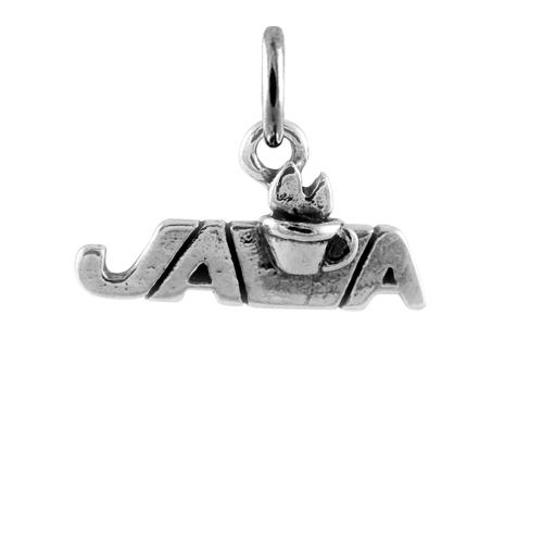 Sterling Silver Java Coffee Charm