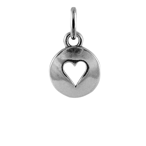 Sterling Silver Domed Heart Charm