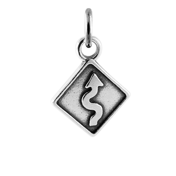 Sterling Silver Curve Sign Charm