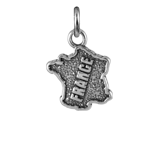 Sterling Silver France Charm