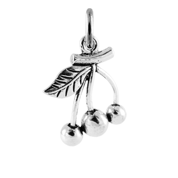 Sterling Silver Cherry Charm