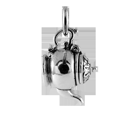 sterling silver 3d teapot charm