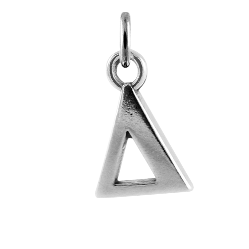 Sterling Silver Greek Delta Charm