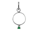 Sterling Silver May Emerald CZ Crystal Ring Charm