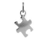 Sterling Silver Jigsaw Puzzle Charm