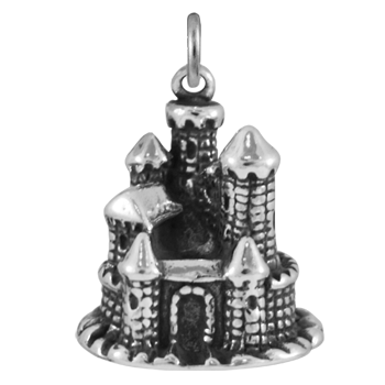 Sterling Silver Fairytale Castle Charm