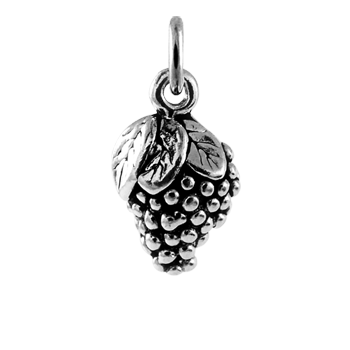 Sterling Silver Bunch of Grapes Charm