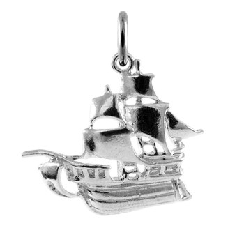Sterling Silver Pirates Galleon Charm