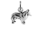 Sterling Silver Small Collie Dog Charm