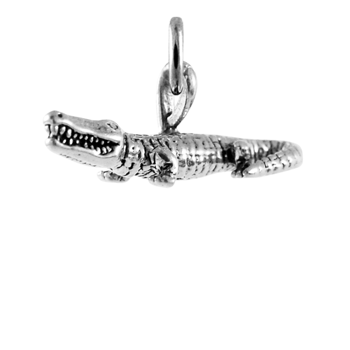 Sterling Silver 3D Alligator Charm