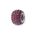 Deep purple Crystal Charm Bead