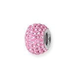 Pink Crystal Charm Bead