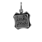Sterling Silver 3D Ink Pad Charm