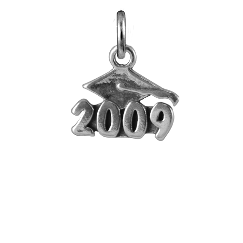 Sterling Silver 2009 Graduation Charm