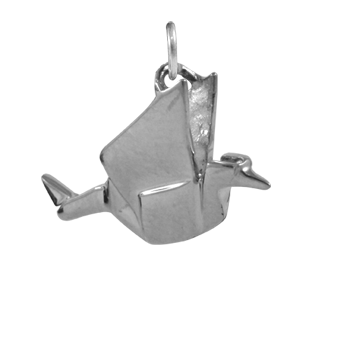 Sterling Silver Origami Crane Charm