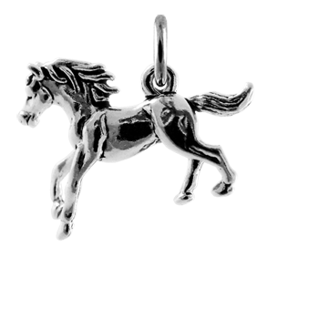 Sterling Silver Galloping Stallion Charm