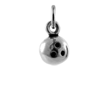 Sterling Silver 3D Bowling Ball Charm