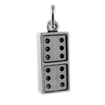 Sterling Silver 3D Dominoes Charm