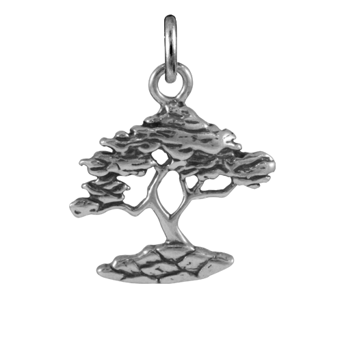 Sterling Silver Cypress Tree Charms