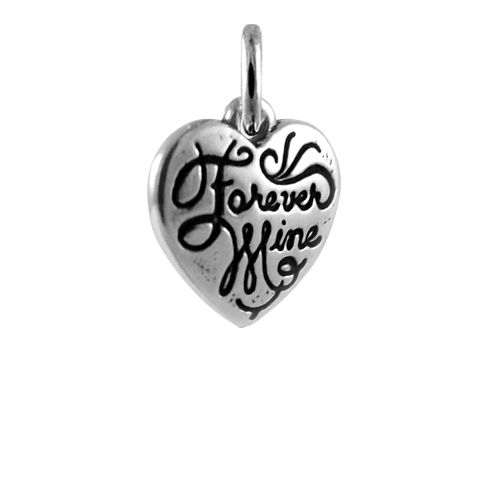 Sterling Silver Heart 'Forever Mine' Charm