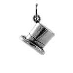 Sterling Silver Top Hat Charm