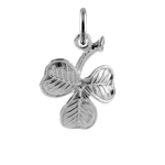 Sterling Silver Lucky Shamrock Charm