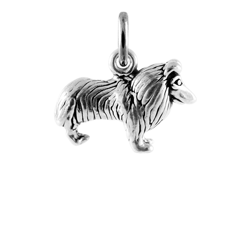 Sterling Silver Collie Dog Charm