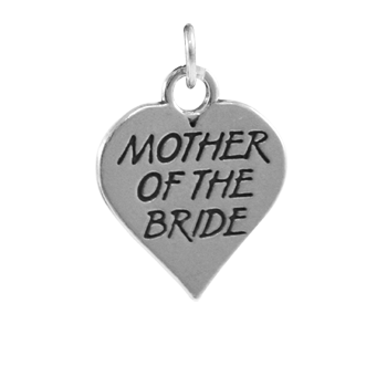 Sterling Silver Mother of the Bride Heart Charm