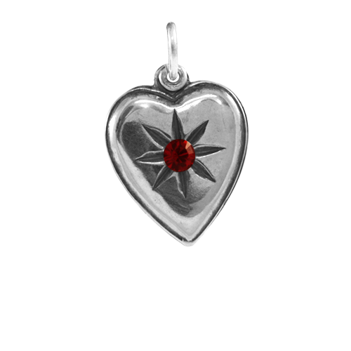 Sterling Silver Twilight Inspired Jacob Heart Charm