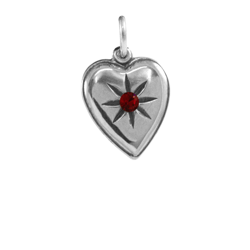 Sterling Silver Twilight Inspired Edward Heart Charm
