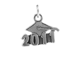 Sterling Silver Graduation 2011 Charm