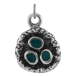 Sterling Silver and Enamel Bird Nest Charm
