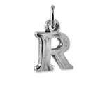 Sterling Silver Alphabet Letter R Charm