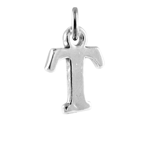 Sterling silver alphabet letter t charm thecharmworkscom for Letter t charm