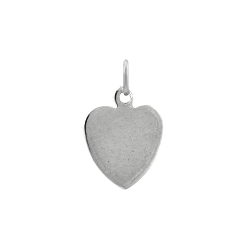 Sterling Silver Small Flat Heart Charm